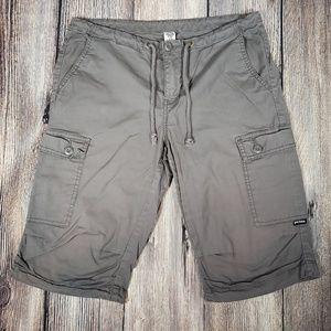 PrAna cargo Bermuda shorts size 6 gray